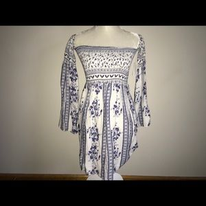 Solemio Cold Shoulder Mini Dress